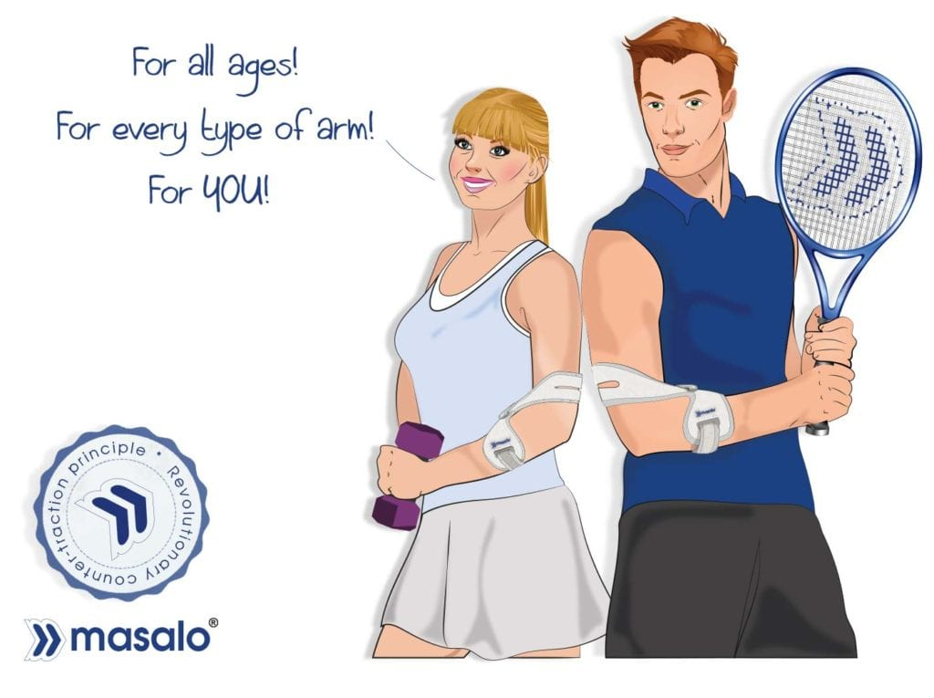 masalo cuff MED against tennis elbow with revolutionary counter-traction principle